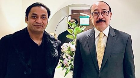 Bashundhara Group MD meets Indian FS in UK