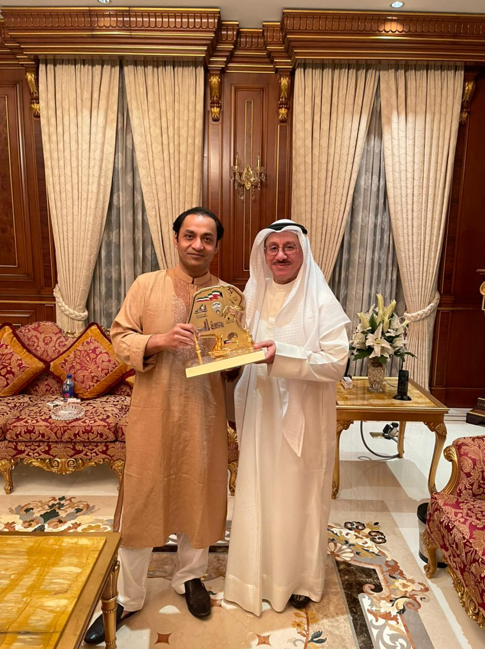 Dinner hosted at my residence on 7th March 2021 for His Excellency Mr. Adel Mohammed A H Hayat, Ambassador of the State of Kuwait in Bangladesh.