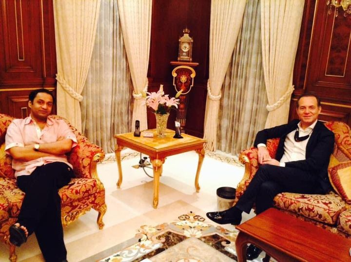 Dinner hosted at my residence for His Excellency Mr. Enrico Nunziata ,Ambassador of Italy to Bangladesh .